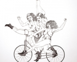 Jamiyla LoweBike Gang10 x 10 in. Ink on Board. 2010