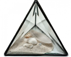 The Wild UnknownSand8 x 8 x 8 in. Glass, sand, feather, stones. 2010