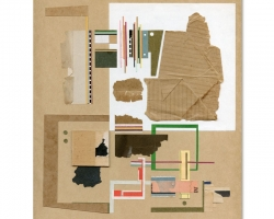 "Jacob WhibleyDiagram 2 (Koetis) 8 x 8"" Ephemera, Mixed Media 2010"