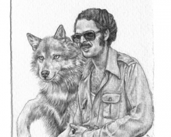 KozyndanRashad and His Spirit Animal2.5 x 3.75 in. Graphite on Paper