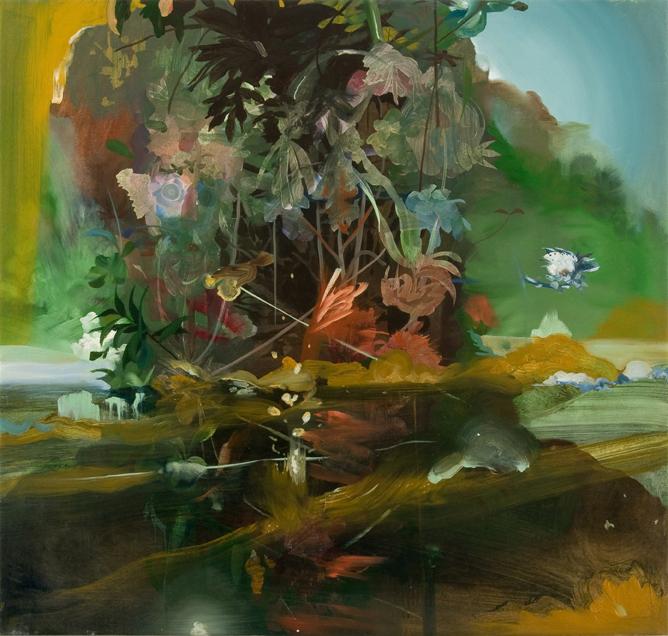 Leon BennRobinson Crusoe 37 x 36 in. Oil on Canvas. 2008