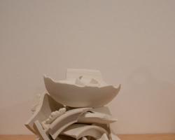 "Naomi YasuiA Form & Method of Perfecting Pot"" Porcelain, overglaze, glaze, gold lustre. 2009"