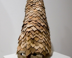 "Noel MiddletonJaga's Abacedarians (Sun)18 "" tall. Wood, Mixed Media. 2009"