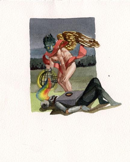 Nicholas AokiIris, 2009 6.75 x 6 in.Watercolour on Paper.