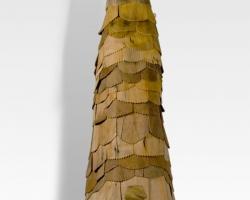 "Noel MiddletonJaga's Abecedarians (Night) 36"" tall. Wood, Mixed Media. 2009"
