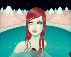 Tara McPherson The Weight of Water II19 x 26 in. Archival print. Ed of 100. 2009