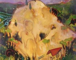 Tessar LoIt's a Mountain 30 x 40 in. Mixed Media on Canvas. 2010