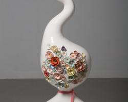 Julie MoonSwan39 x 13 x 16 in. Porcelain