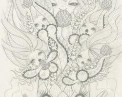 Junko MizunoArtichoke Sketch10 x12.5 in. Graphite on Paper. 2012