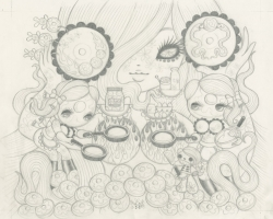 Junko MizunoPancakes Graphite Study12.5 x 10 in. Graphite on Paper 2012