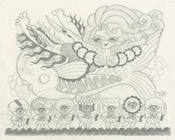 Junko MizunoSushi Sketch12.5 x 10 in. Graphite on Paper. 2012
