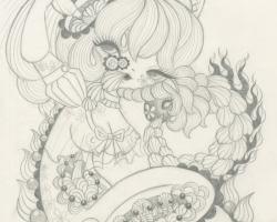 Junko MizunoWhipped Cream Sketch10 x12.5 in. Graphite on Paper. 2012