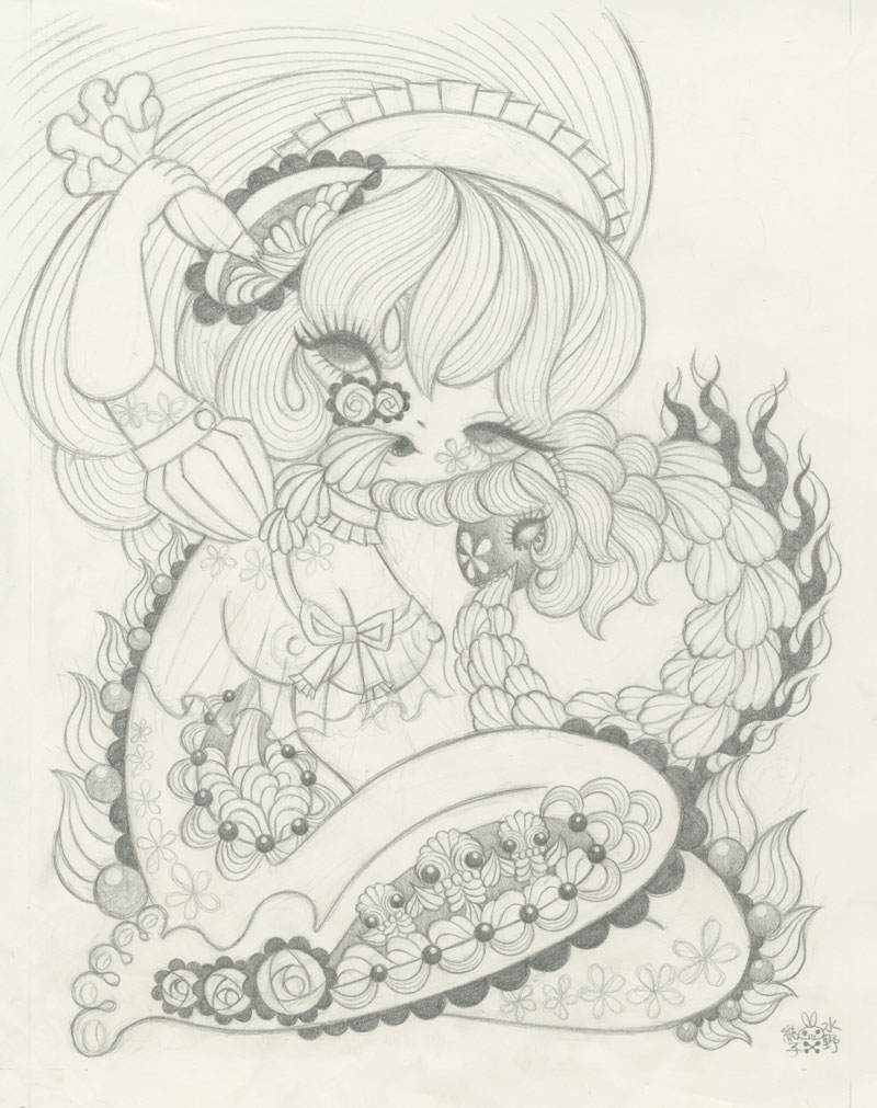Junko MizunoWhipped Cream Sketch10 x12.5 in. Graphite on Paper. 2012