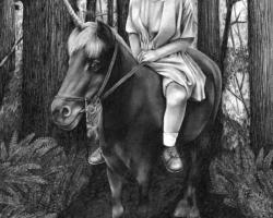 Adrienne KammererWoodland Wanderers7 x 10.5'' Graphite on Paper. 2011