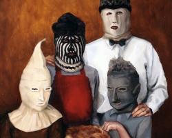 "Lauchie Reid & Stephen Appleby-BarrFamilius Mendicans9 x 12"" Oil on panel 2010"