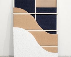 Bea FremdermanCross SectionCarpet, cork, tile, acoustic foam, masonite, wood. 2012