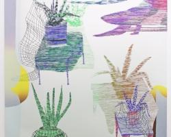 Aloe Nets Daniel Luedtke Silkscreen on Paper. 2012
