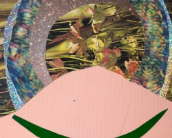 "Diana Vandermeulen Untitled II Collage on paper. 4x5"" 2012"