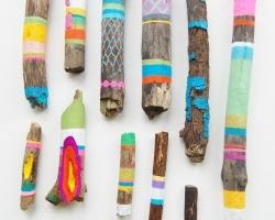 Ginette LapalmeMagic SticksVarious sizes. Acrylic on wood. 2010