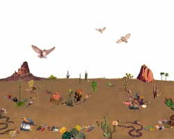 Jessalyn Aaland Desert Walk(for Leslie Marmon Silko) Collage and gouache on paper 2012