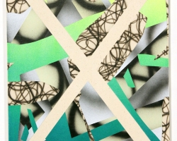 "Josh ReamesHex (No.2)12""x16"" Acrylic on canvas. 2012"