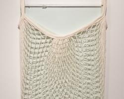 "Nikki Woolsey Bag of Glass 9"" x 13"" glass, string bag 2012"