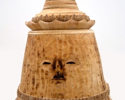 "Noel MiddletonGuile Underseer28 "" tall. Wood, Oil. 2010"