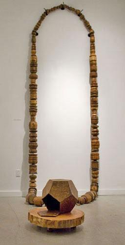 Noel MiddletonJaga's Strand16 ft long. Wood, Mixed Media. 2009