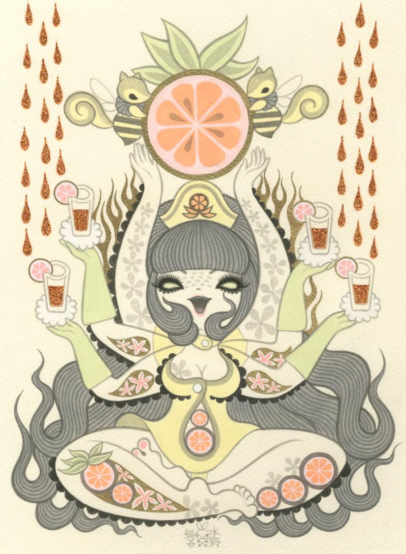 Junko MizunoOranges II9 x 12 in. Acrylic on Paper 2012