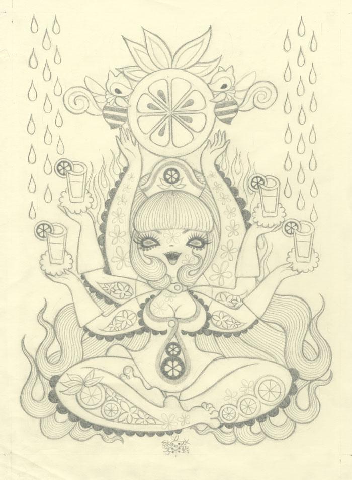 Junko MizunoOranges II Sketch9 x 12 in. Graphite on Paper. 2012