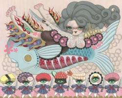 Junko MIzunoSushi20 x 16 in. Acrylic on Canvas 2012
