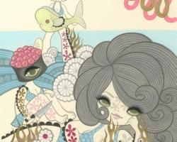 Junko MIzunoSushi II9 x 12 in. Acrylic on Paper 2012