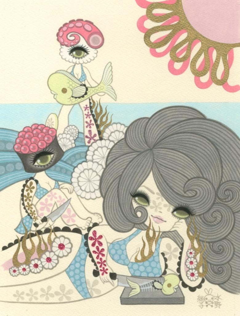 Junko Mizuno Sushi II9 x 12 in. Acrylic on Paper 2012
