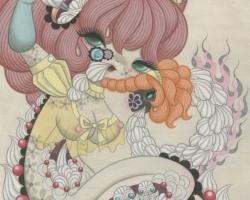 "Junko MIzunoWhipped Cream16 x 20"" Acrylic on canvas. 2012"