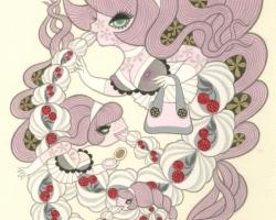 Junko MizunoWhipped Cream II9 x 12 in. Acrylic on Paper. 2012