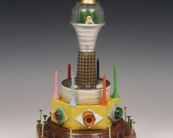"Souther SalazarMoon Tower7 x 7 x 12.5"" Mixed Media 2012"