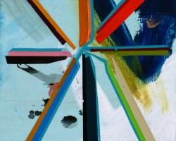Paul WackersA Thing8 x 10 in. Acrylic, spray paint on panel 2013