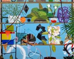 Paul WackersBright Day48 x 40 in. Acrylic, spray paint on panel 2013