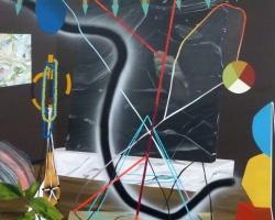 Paul WackersDreamer40 x 36in. Acrylic, spray paint on panel 2013