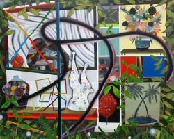 Paul WackersSignpost48 x 60 in. Acrylic, spray paint on panel 2013
