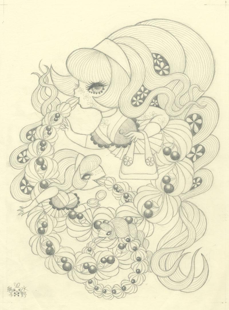 Junko MIzunoWhipped Cream II Graphite Study10 x12.5 in. Graphite on Paper. 2012