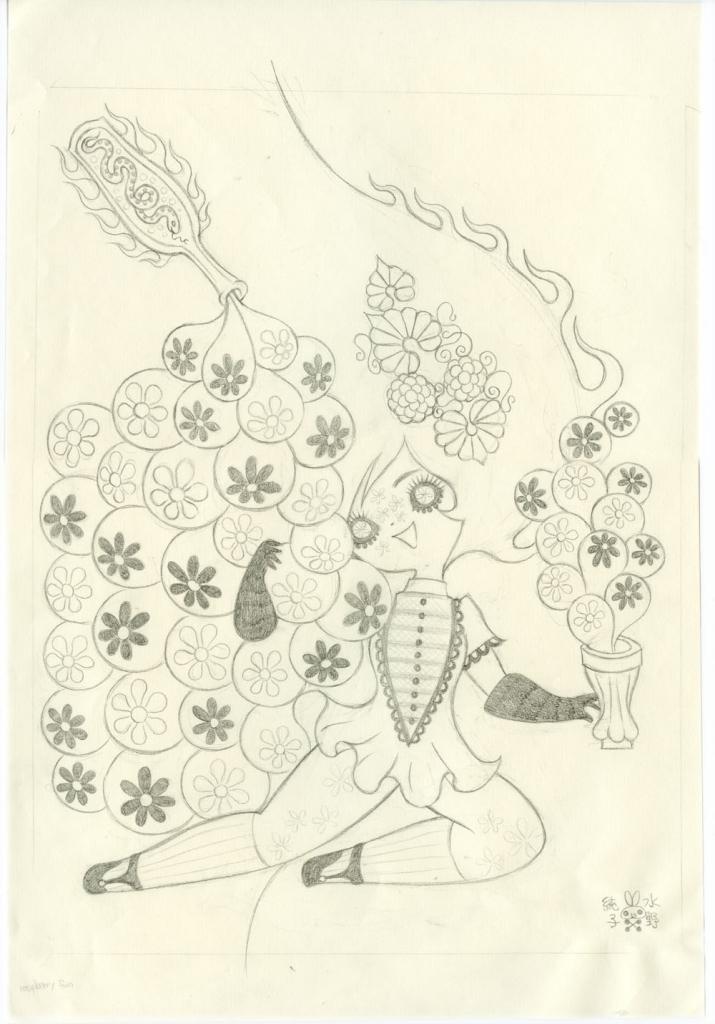 Junko MizunoRasberry Cordial Graphite Study 9.75 x 14.5in. Graphite on paper 2009