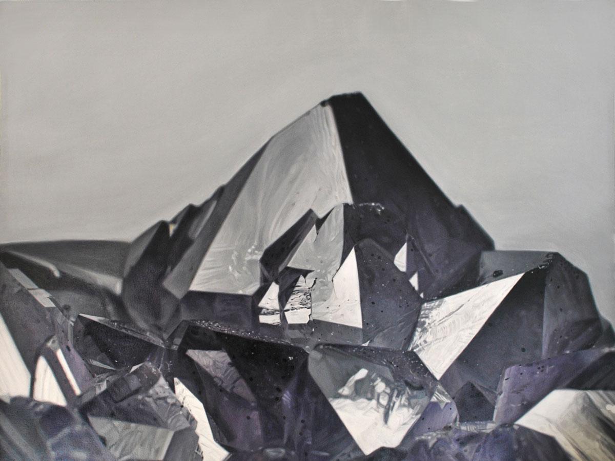 """Carly WaitoAmethyst Mountain III 16 x 13"""". Oil on panel. 2014"""