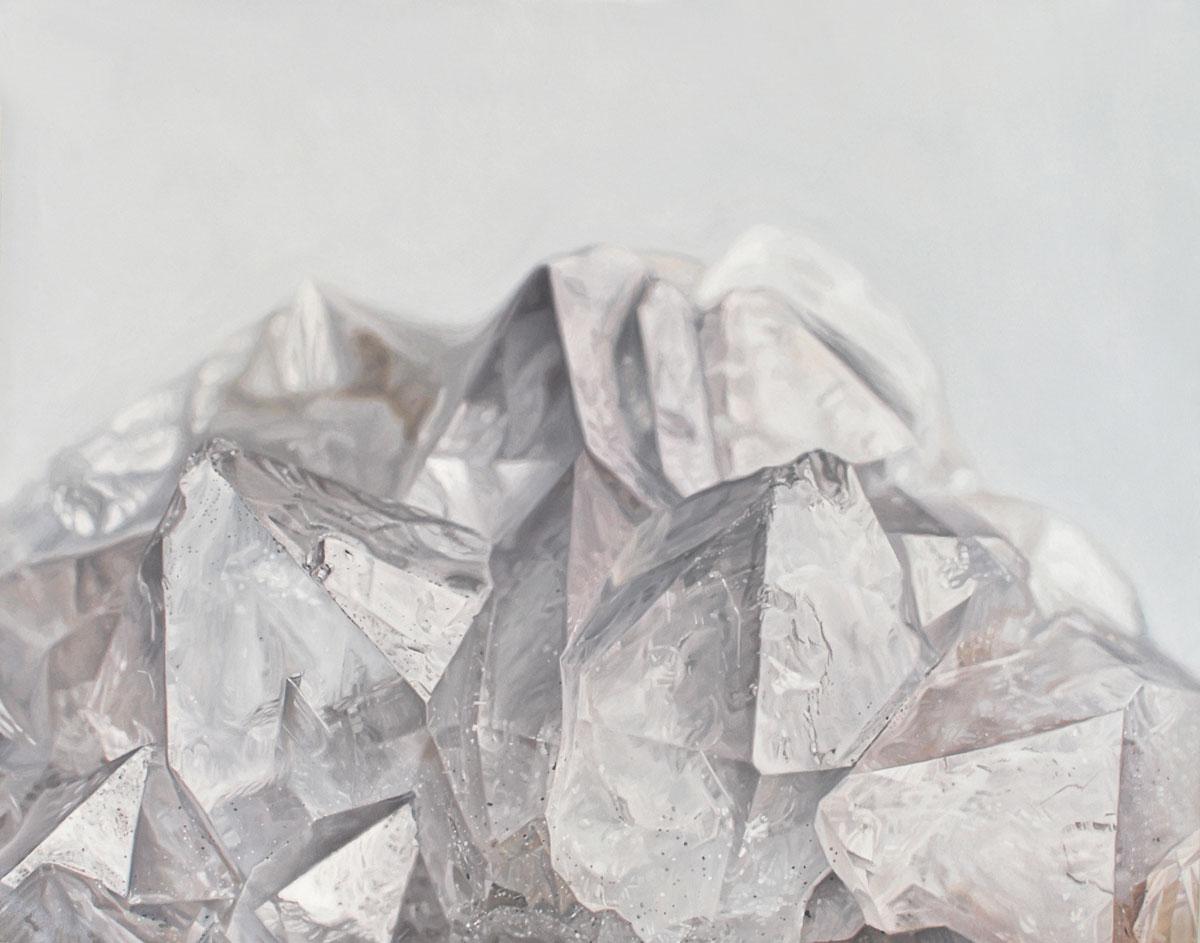"""Carly WaitoQuartz Mountain 14 x 11"""". Oil on panel. 2014"""