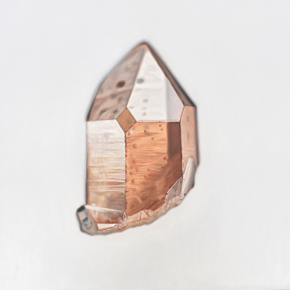 Carly WaitoTangerine Quartz8 x 8in. Oil on panel. 2014