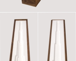 """Jacob Whibleythe long gift of subtraction Polystyrene & walnut4.5"""" w x 27"""" l x 5.25"""" h  2013"""