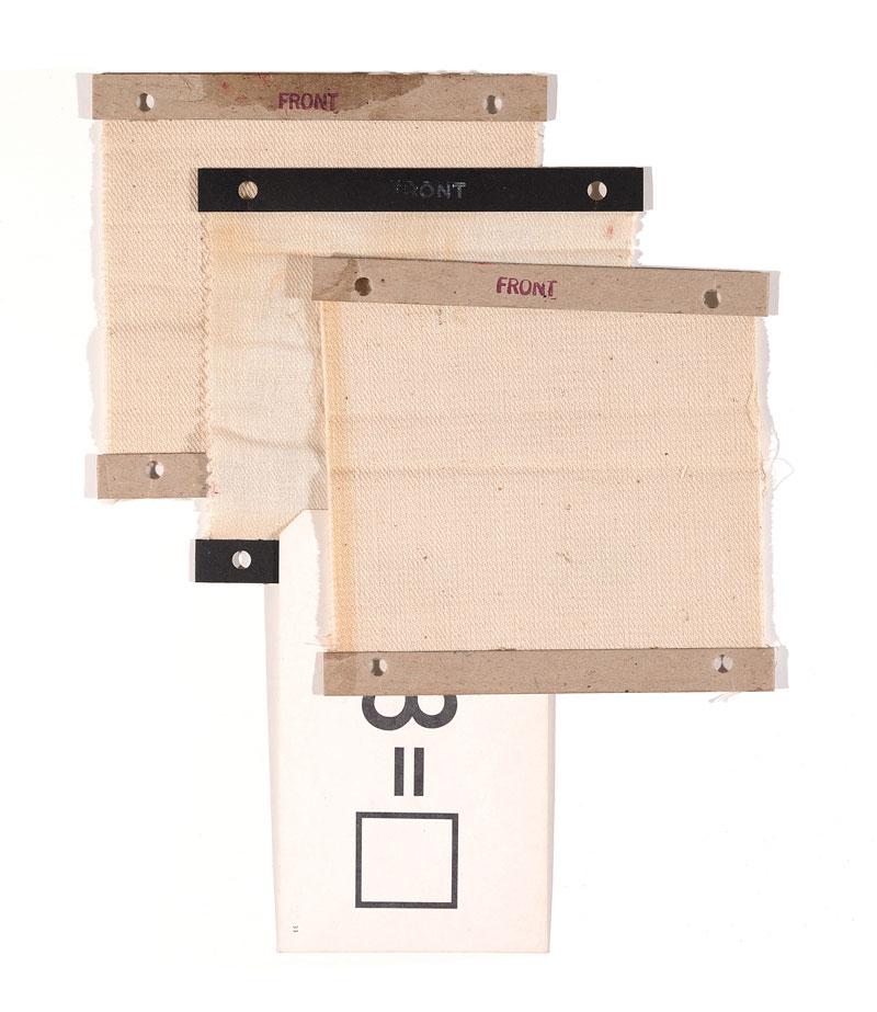 "Jacob Whibleym3moir g3nr3 Linen and paper ephemera 9.25 x 11.25"" 2013"