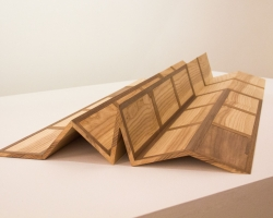 """Jacob Whibleyof greatest solidity Ash and walnut19.25"""" w x 39.5"""" l x 4.5"""" h  2013"""