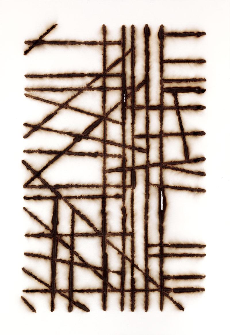 Jacob Whibleyundoing the instance of (framework)19.5 x 28in. unframed, 24 x 32in. framed Burnt archival paper.2012