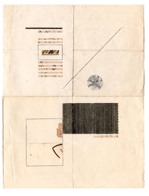 "Jacob Whibleyca epochal rig (1886-2012) Ink and ephemera on paper10 x 13"" 2013"